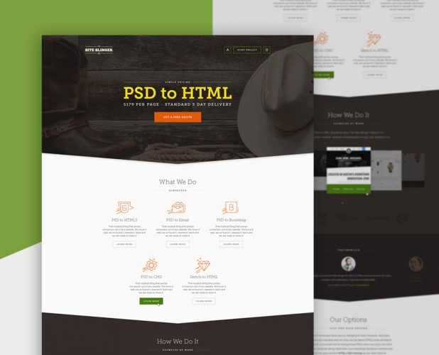 design of website for psd to html online service