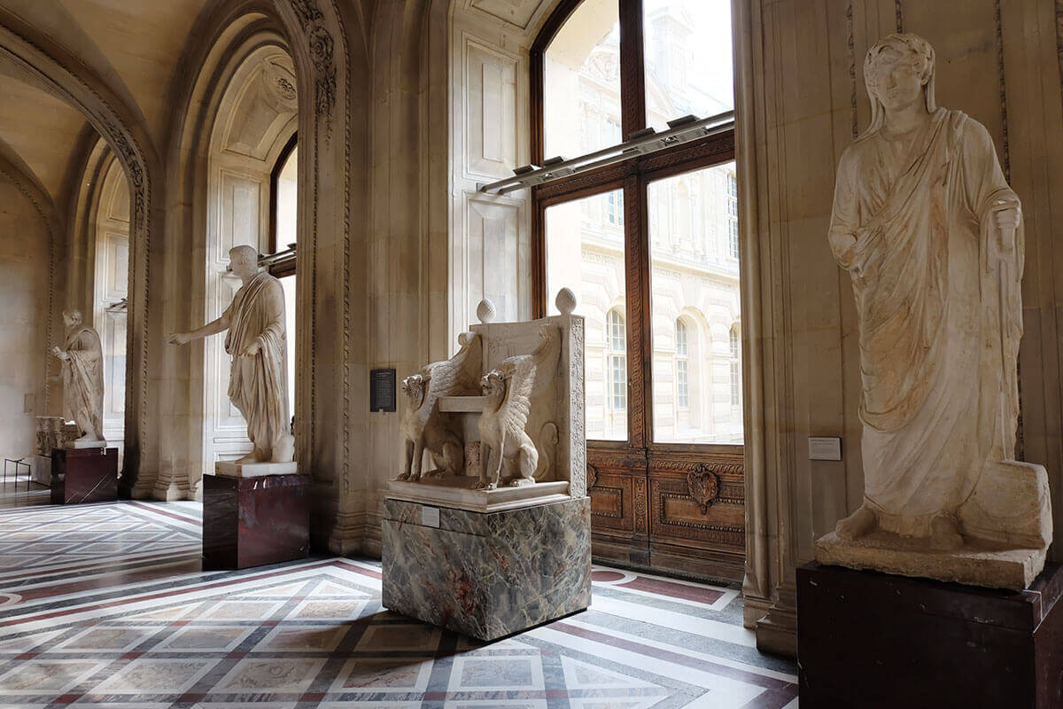 Sculptures in the Louvre, Paris