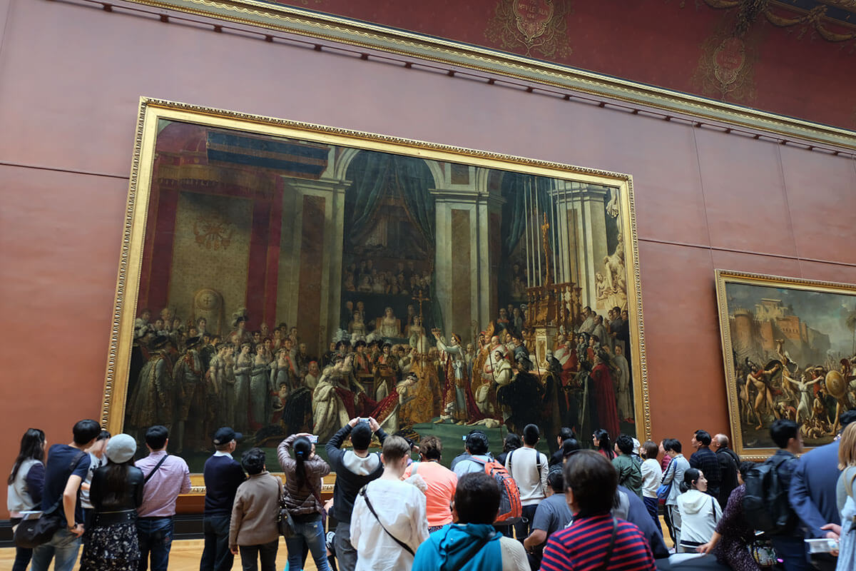 Coronation of Napoleon (picture of David), Louvre, Paris