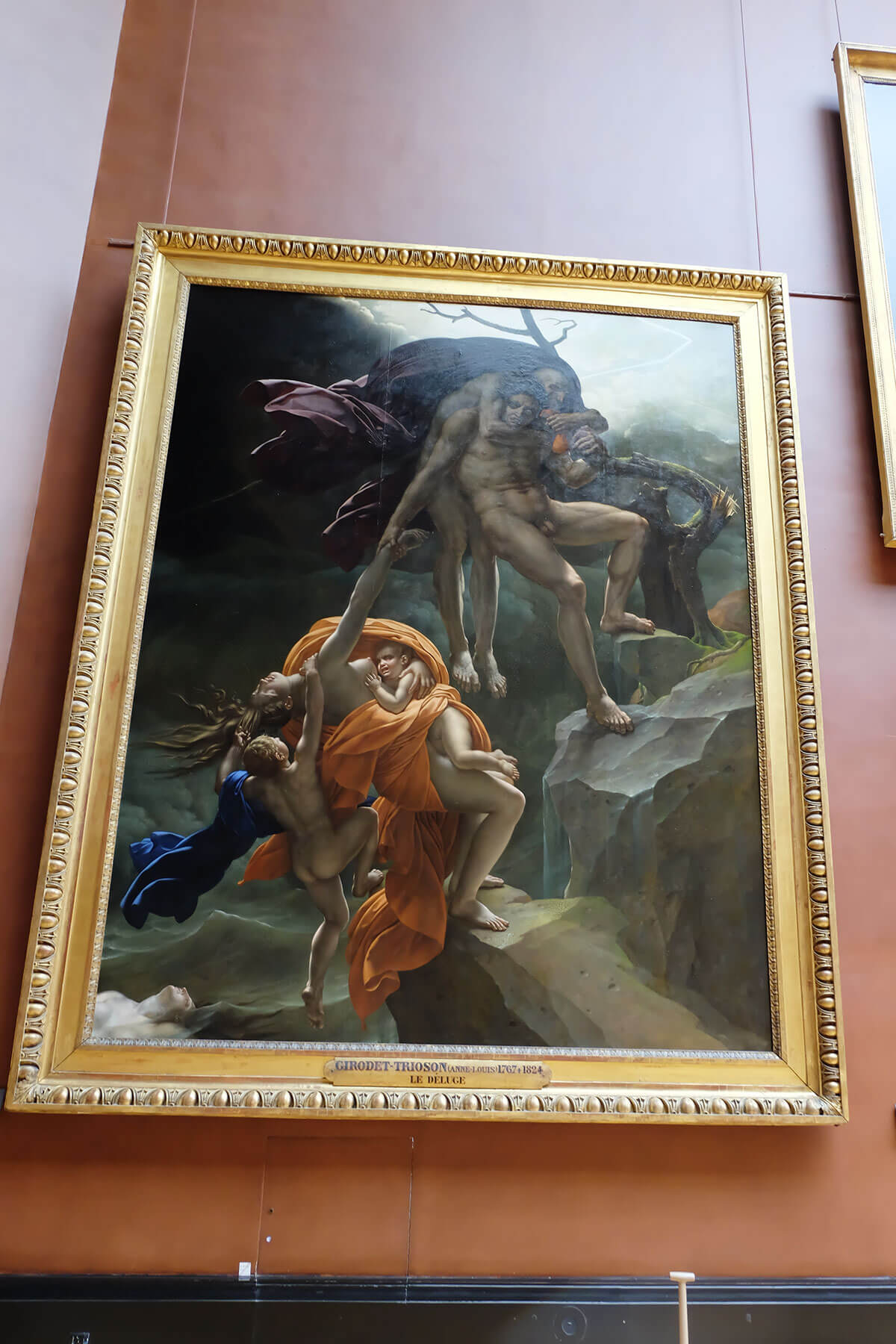 Girodet trioson - le deluge in the Louvre, France