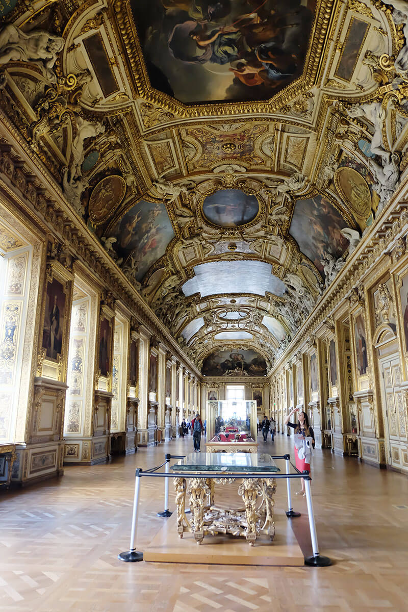 Best hall of the Louvre, Paris, France