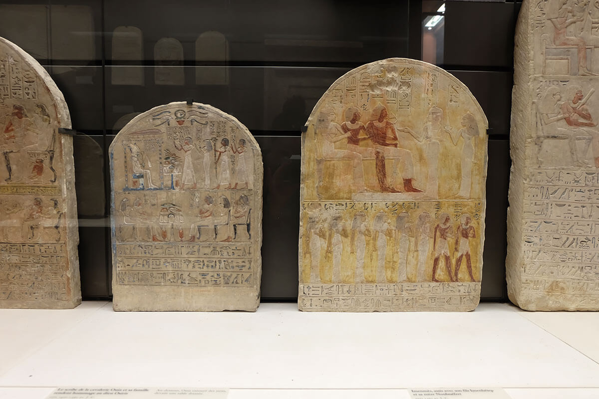 Egypt sculptures in Louvre, Paris